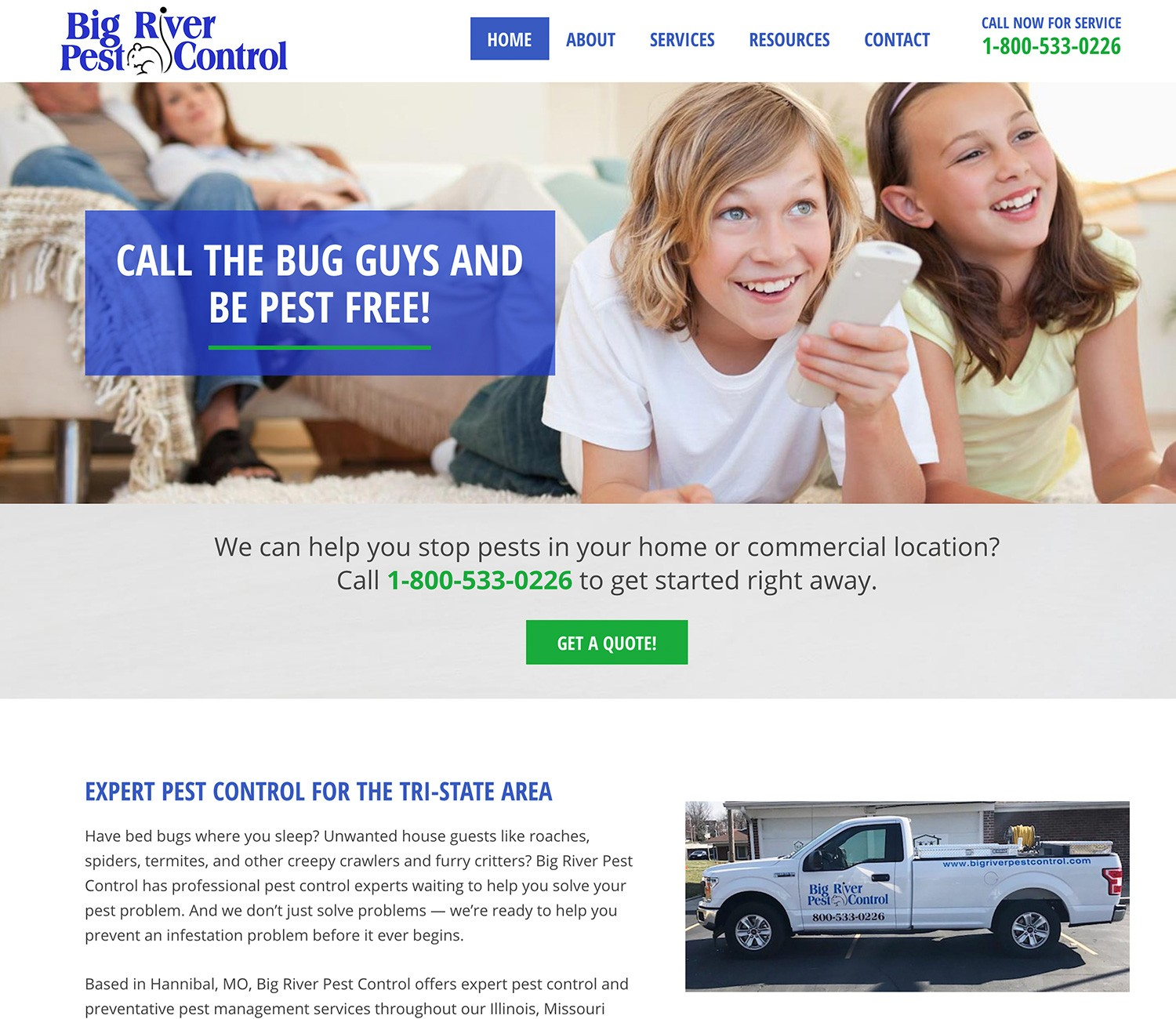 Big River Pest Control Website