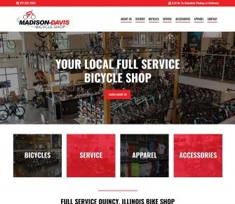 Madison Davis Bike Shop Website